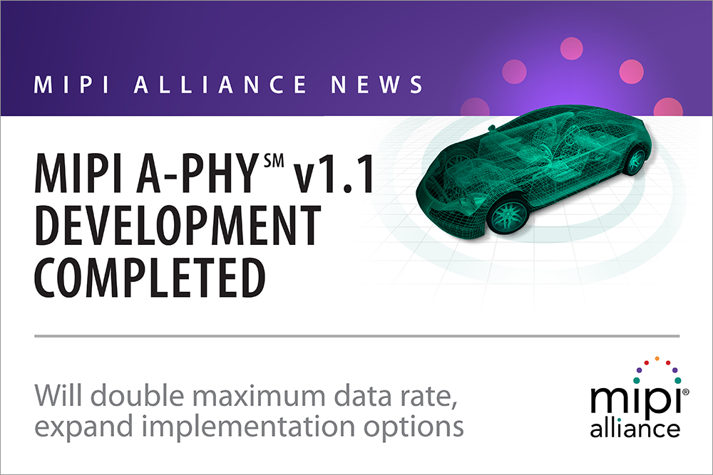 MIPI A-PHY v1.1. Development Completed