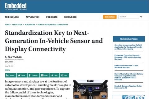 MIPI in the News: Embedded Computing Design 16 July 2021