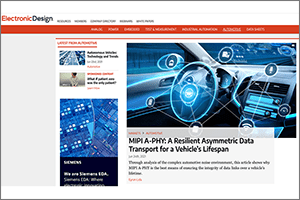 MIPI in the News - Electronic Design June 2021